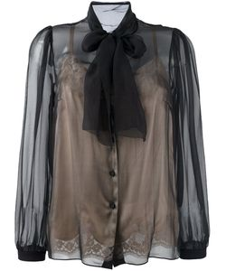 Dolce & Gabbana | Полупрозрачная Блузка С Завязкой На Бант