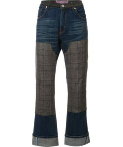 JUNYA WATANABE COMME DES GARCONS | Checked Pad Detailing Jeans