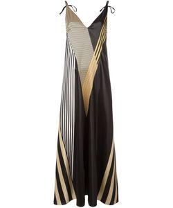 ATTICO | Длинное Платье С Полосатым Принтом
