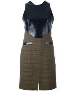 Courreges | Твидовое Платье С Контрастной Панелью