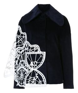 XIAO LI | Geometric Panelled Wide Collar Jacket