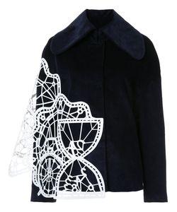 XIAO LI | Geometric Panelled Wide Collar Jacket