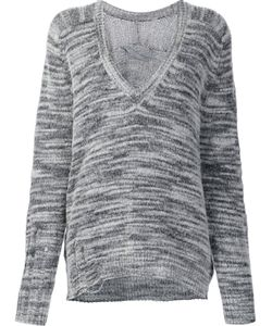 Raquel Allegra | Distressed V-Neck Jumper