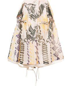Sacai | Calligraphy Print Drawstring Skirt