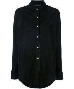 Manokhi   Замшевая Рубашка С Длинными Рукавами