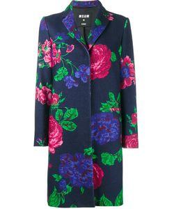 MSGM | Пальто С Цветочным Принтом