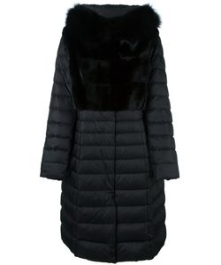 Liska | Mink Fur Panel Puffer Coat