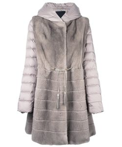 Liska | Mink Fur Hooded Puffer Coat