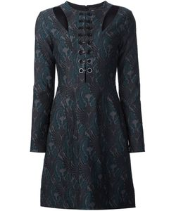 Yigal Azrouel | Jaquard Lace Up Dress