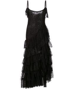 Alessandra Rich | Платье С Многоярусной Юбкой