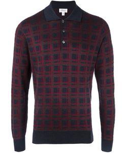 Brioni | Рубашка-Поло В Клетку С Длинными Рукавами
