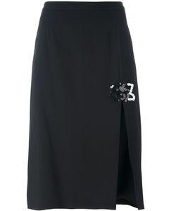 Christopher Kane | Embroidered Front Slit Skirt