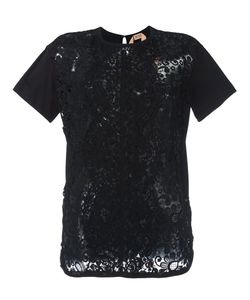 No21 | Lace Panel T-Shirt