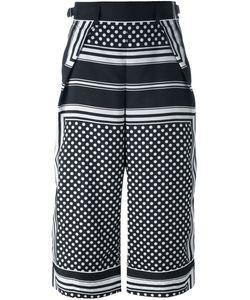 Sacai | Stripe Dot Print Culottes
