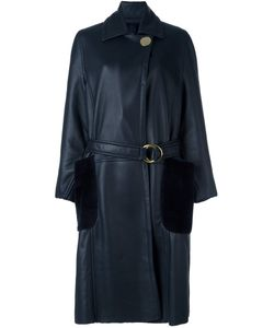 Petar Petrov | Belted Shearling Long Coat