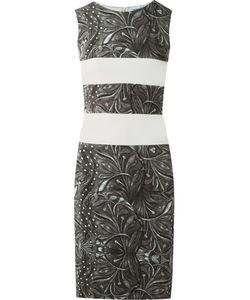 GLORIA COELHO | Leather Details Dress