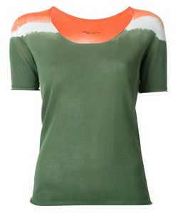 Roberto Collina | Tri-Tone Shortsleeved Knit T-Shirt