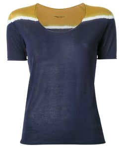 Roberto Collina   Tri-Tone Shortsleeved Knit T-Shirt