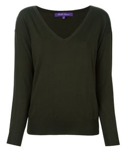 Ralph Lauren Purple | V Neck Fine Knit Jumper