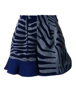Kolor | Animal Print Ruffle Shorts