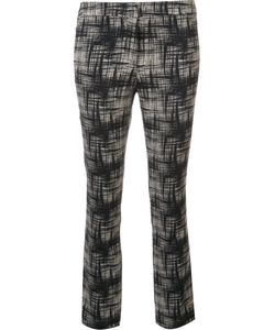 Ql2 | Abstract Print Cropped Trousers