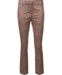 Ql2 | Geometric Print Cropped Trousers