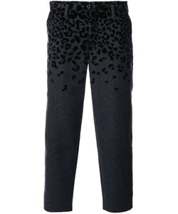 Kolor | Animal Print Cropped Tapered Trousers