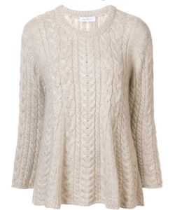 RYAN ROCHE | Flared Cable Knit Jumper