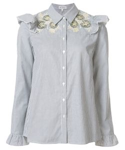 Suno | Embroidered Ruffle Blouse