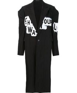 Yohji Yamamoto | Long Painted Coat