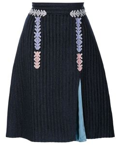 Peter Pilotto | Velvet Striped Skirt