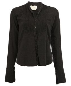 GREG LAUREN | Pleated Bib Blouse