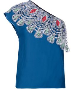 Peter Pilotto | Embroidered One Shoulder Top