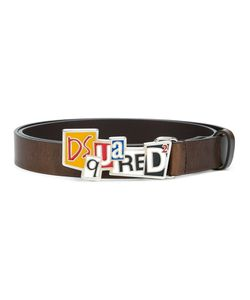 Dsquared2 | Newspaper Collage Buckle Belt