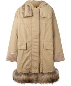 Moncler | Пальто С Меховой Оторочкой