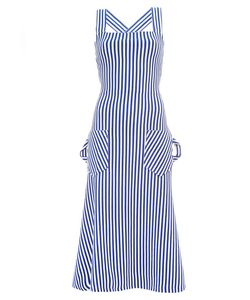 Richard Malone | Striped Cross Back Dress