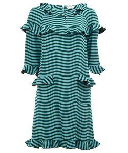 Fendi | Frilled Wavy Print Dress