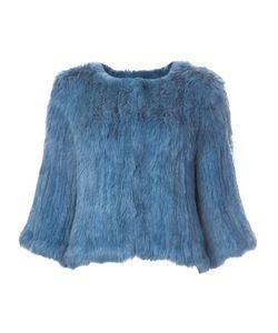 METEO BY YVES SALOMON   Furry Cropped Jacket