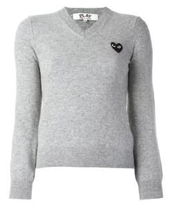 Comme des Gar ons Play | Comme Des Garçons Play Embroidered Heart Jumper