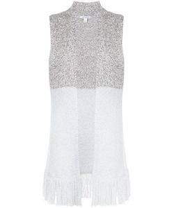 BELLFORD | Fringed Sleeveless Cardi-Coat