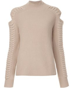ZOE JORDAN | Cut-Out Detail Ribbed Jumper