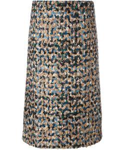 Maison Margiela | Bouclé Knit A-Line Skirt