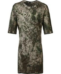 11 BY BORIS BIDJAN SABERI | Camouflage Long Fit T-Shirt