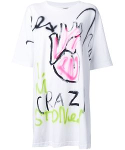 Guernika | Graffiti Print Long T-Shirt