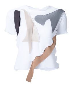 Kotohayokozawa | Contrast Panel Short Sleeve T-Shirt