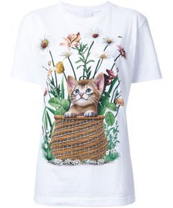 Wall | Cat And Flower Print T-Shirt