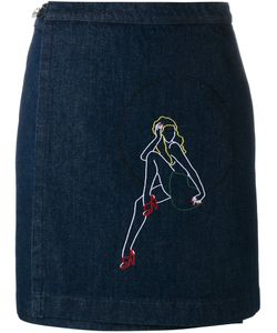 Jour/Né | Embroidered Denim Skirt