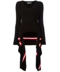 Givenchy | Draped Hem Knitted Jumper Medium Cotton/Polyamide/Spandex/Elastane