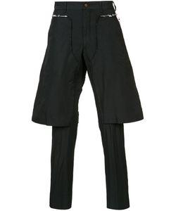 COMME DES GARCONS HOMME PLUS | Comme Des Garçons Homme Plus Layered Tailored Cropped Trousers