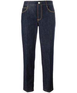 Ermanno Scervino | Cropped Straight-Leg Trousers 42 Cotton/Spandex/Elastane/Polyester